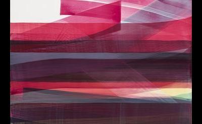 (detail) Nathan Pankratz, It's A Wild World, 2015, water based medium on canvas,