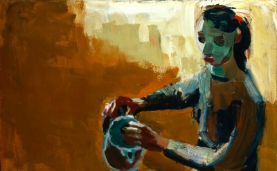 David Park, Woman with Coffeepot, 1958 (Kalamazoo Institute of Arts)