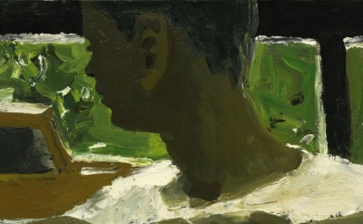 David Park, Boy and Car, 1955, oil on canvas, 18 × 24 inches (courtesy of Thomas