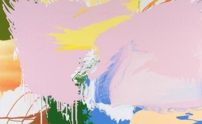 (detail) Carolanna Parlato, Coronal Loop, 2009, acrylic on canvas, 47 x 51 inche