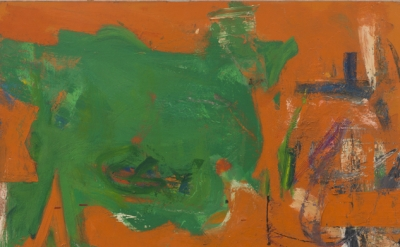Pat Passlof, Iron, oil on paper, 1951 (courtesy of Elizabeth Harris Gallery)