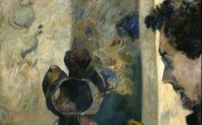 (detail) Paul Gauguin, Still Life with Profile of Laval, (1886), Collection of t