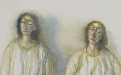 (detail) Celia Paul, Two Sisters (Kate and Jane), 2013 (courtesy of Victoria Mir