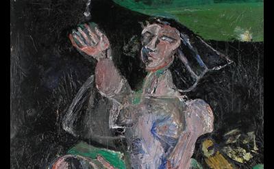 (detail) (detail) David Paulson, Diana, 2009, acrylic on canvas, 64 x 38 inches