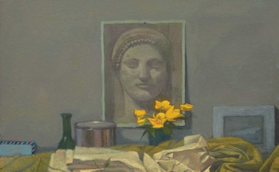 (detail) Gillian Pederson-Krag, Still Life, Oil on Canvas, 18 x 19 inches, 2005,
