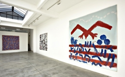 Installation View, A.R. Penck at Cardi Black Box, Milan