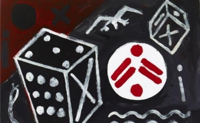 A.R. Penck, Wenn der Zufall es will (If Chance Permits), 2011, acrylic on canvas