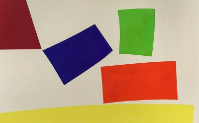William Perehudoff, AC-68-6, 1968, acrylic on canvas, 54 1/4 x 70 inches  (court