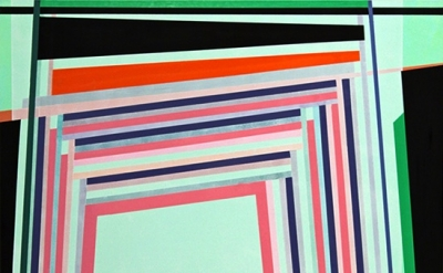 (detail) Gary Petersen, Green Light, 2011, acrylic & oil on masonite panel, 20 x