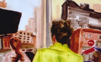 (detail) Elizabeth Peyton, Spencer Walking, 2001 (Philadelphia Museum of Art)