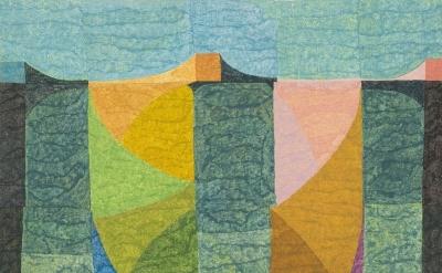 (detail) Matt Phillips, The Kingston Line (II), pigment and silica on linen 24 x