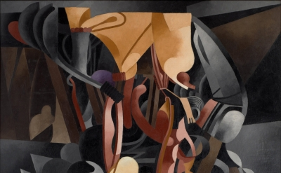 (detail) Francis Picabia, Je revois en souvenir ma chère Udnie (I See Again in Memory My Dear Udnie), 1914, oil on canvas (photo: Museum of Modern Art John Wronn; Art: ©2016 Artists Rights Society (ARS), NY and ADAGP, Paris/Museum of Modern Art, New York)