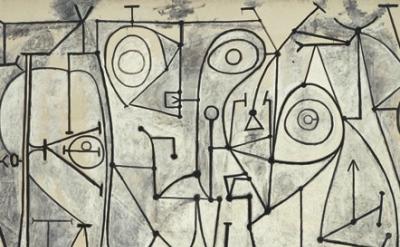 (detail) Pablo Picasso, The Kitchen (La cuisine), Grands-Augustins, Paris, Novem