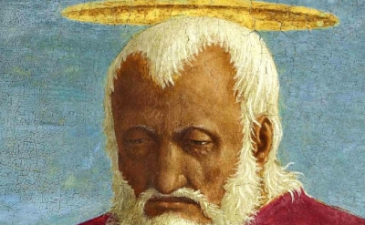 (detail) Piero Della Francesca, Saint John the Evangelist, 1454–69, oil and temp