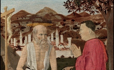 (detail) Piero della Francesca, Saint Jerome and a Supplicant, ca. 1460–64? (Gal