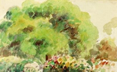 Camille Pissaro, Kew Gardens (London), circa 1892, watercolor on paper (Private