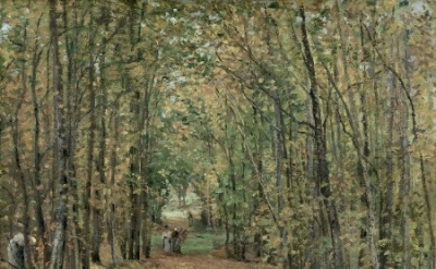 Camille Pissarro, The Woods at Marly, 1871, oil on canvas, 45 x 55 cm (propiedad