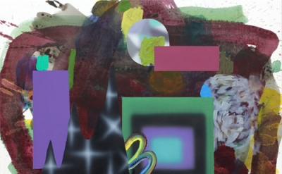 Josh Podoll, Untitled, 2012, acrylic paint, oil paint on canvas, 24 x 30 inches