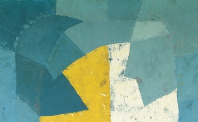 (detail) Serge Poliakoff, Composition abstraite, 1950, 51 x 38 inches (courtesy