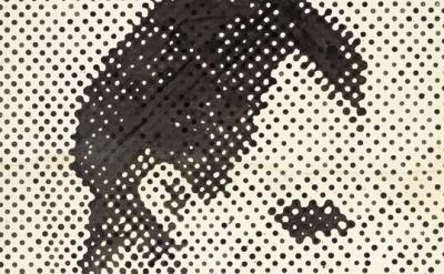 (detail) Sigmar Polke, Raster Drawing (Portrait of Lee Harvey Oswald) © 2014 Est