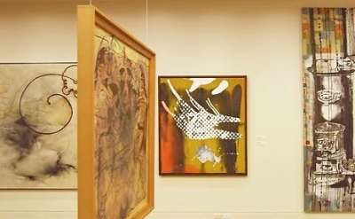 Installation view, Sigmar Polke at the Portland Art Museum, Oregon (photo: Jeff
