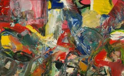 John Pollard, Wolfson, 2015, 76 x 100cm, acrylic on canvas (courtesy of the arti