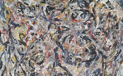 (detail) Jackson Pollock, Earth Worms, 1946 (Tel Aviv Museum of Art Collection,