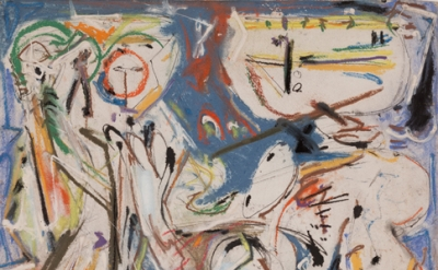 (detail) Jackson Pollock, Untitled, 1945 (The Museum of Modern Art, New York. Bl