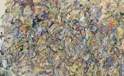 Larry Poons, Untitled, 2012, acrylic on canvas, 59.5 x 72 inches (courtesy of Lo