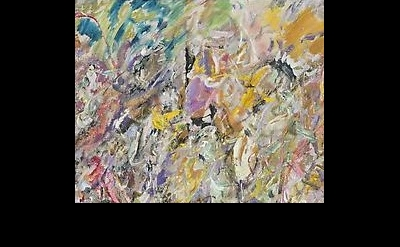 (detail) Larry Poons, Sweet Mountain Cat, 2013 (courtesy of Danese/Corey)