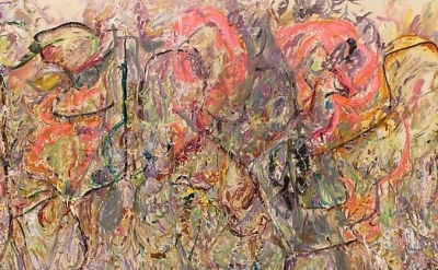 (detail) Larry Poons, The Forlorn Patrol, 2013 (courtesy of Danese/Corey Gallery
