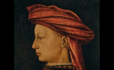 (detail) Florentine Artist (Piero Uccello?), Profile of a Man, c. 1430-40, tempe
