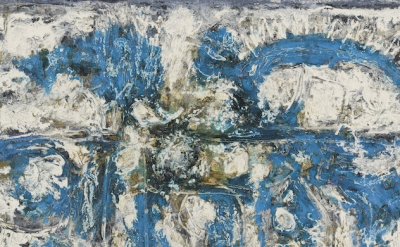 (detail) Richard Pousette-Dart, Blue Amorphous #4, 1962, oil on canvas (©2016 Estate of Richard Pousette-Dart/Artists Rights Society (ARS), New York/Kerry Ryan McFate/Courtesy of Pace Gallery)