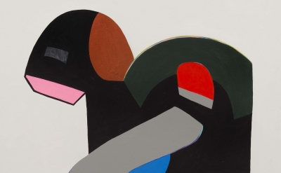 (detail) Hayal Pozanti, Technocream, acrylic on wood panel, 45 x 45 inches, 2014