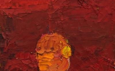(detail) Norbert Prangenberg, Bild, 2009 oil on cardboard 35,5 cm x 26,5 cm (cou
