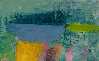 (detail) Lisa Pressman, Off Somewhere, 2015, oil on panel, 12 x 12 inches (court