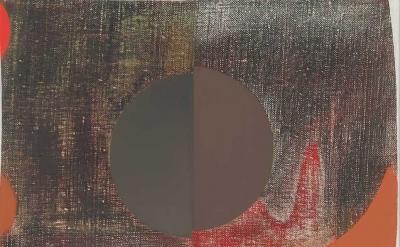 (detail) Nathlie Provosty, Dissonance, 2016, oil on linen, 19 x 15 inches (court
