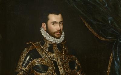 (detail) Scipione Pulzone, Jacopo Boncompagni, 1574 (image courtesy Michael Body