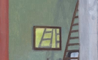 (detail) Eleanor Ray, Atelier Cézanne, Aix, 2015, oil on panel, 5 1/4 x 5 3/4 in