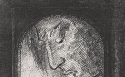 (detail) Odilon Redon, Lumière, 1893. Lithograph, 24.6 x 17.8 inches (sheet), Th