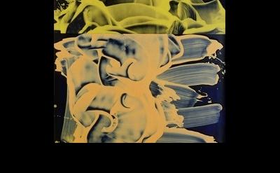 (detail) David Reed, #323, 1990-1993, Öl und Alkyd auf Leinwand, 112 x 46 inches
