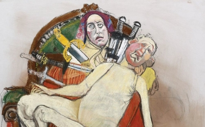 (detail) Paula Rego, Our Lady of Sorrows, 2013, pastel on paper, 129.5 x 110 cm