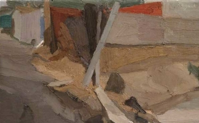 Brian Rego, Wedge 10×13 inches oil on linen, detail (courtesy of the artist)
