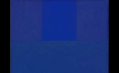 Ad Reinhardt, Abstract Painting, Blue, 1952, oil on canvas, 18 x 14 inches (© 2017 The Estate of Ad Reinhardt/Artist Rights Society, New York. Courtesy of David Zwirner, New York/London)