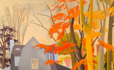 Celia Reisman, Remember Fall, oil on canvas, 18 x 24 inches (courtesy of Gross McCleaf Gallery)