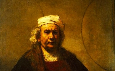 (detail) Rembrandt, Self Portrait with Two Circles, 1660, Kenwood House, London