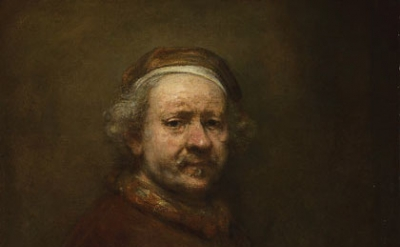 (detail) Rembrandt, Self-Portrait at the Age of 63, 1669 (National Gallery, Lond