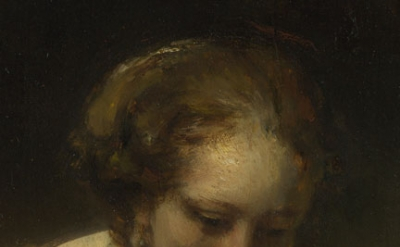(detail) Rembrandt, A Woman bathing in a Stream (Hendrickje Stoffels?), 1654 (Na