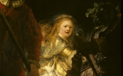(detail) Rembrandt, The Night Watch, 1642, Oil on canvas, 149.4 x 178.5 inches (