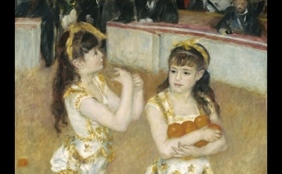 (detail) Pierre-Auguste Renoir, Acrobats at the Cirque Fernando (Francisca and A